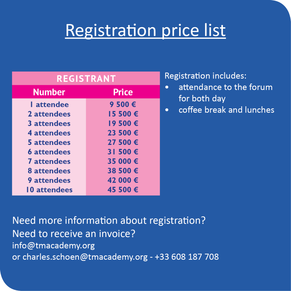 registration price listeuros